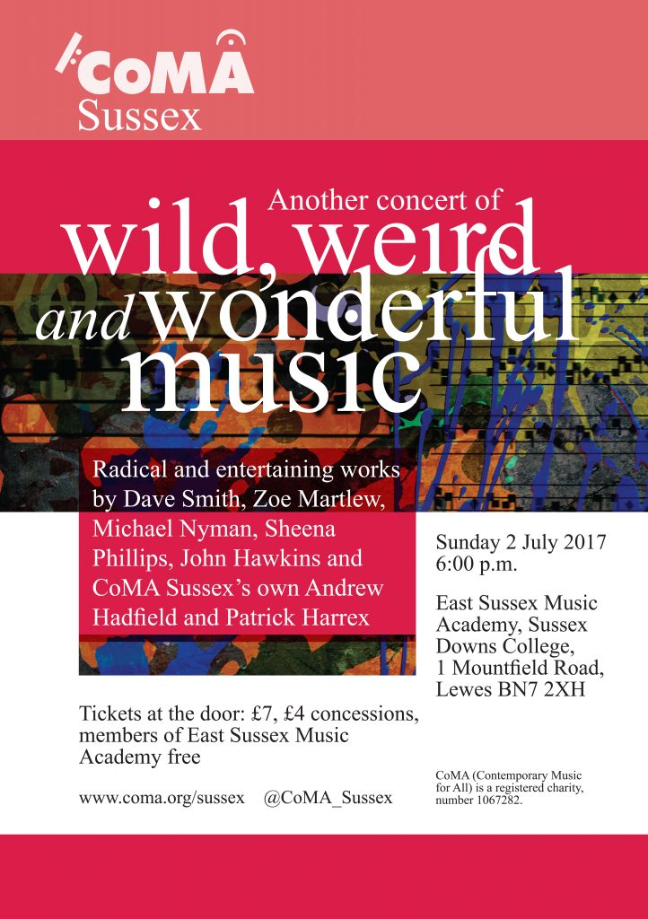 Wild, Weird and Wonderful Music 2nd July