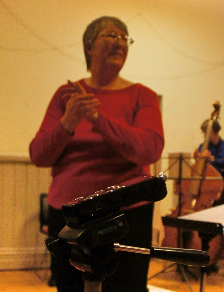 Our conductor, Elaine Levene