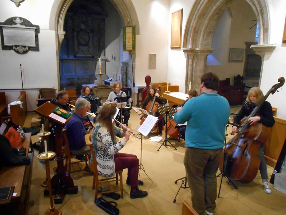 A rehearsal in South Stoneham, Southampton