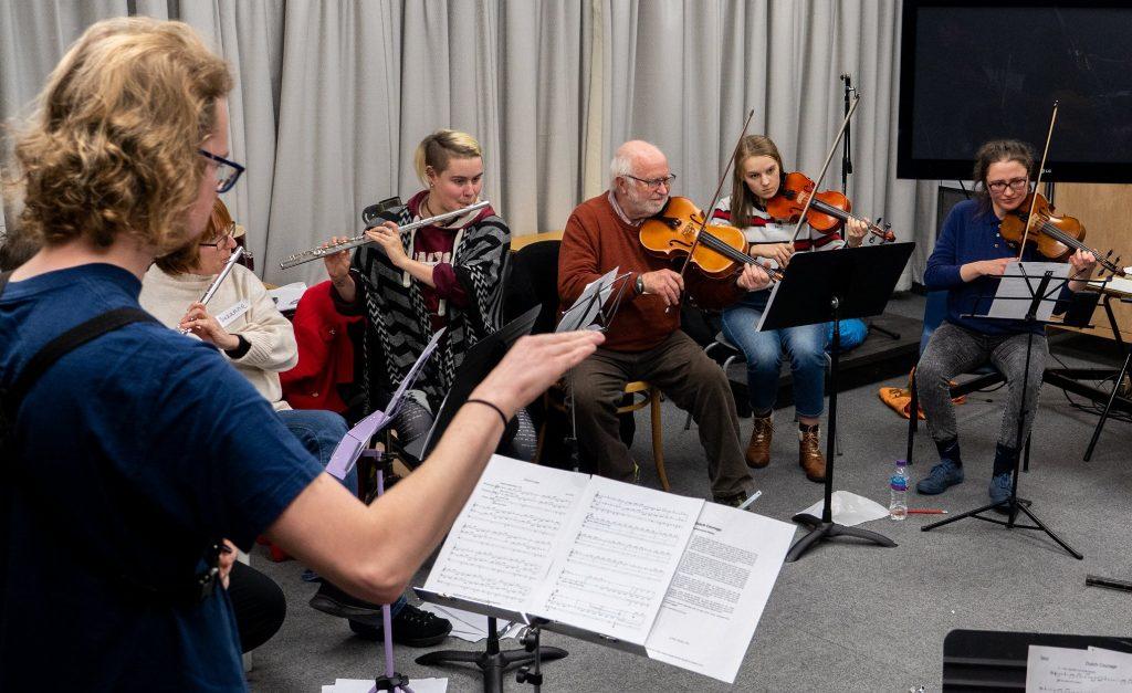 CoMA Glasgow rehearsing