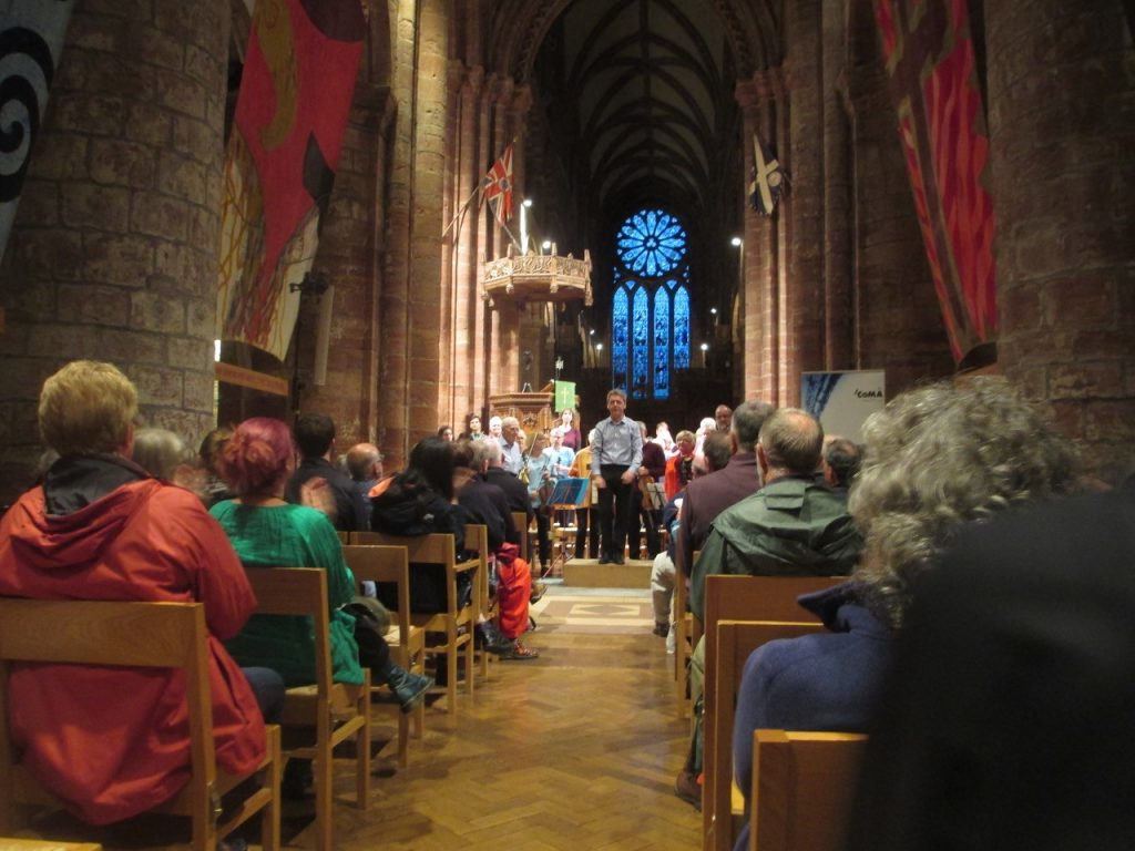 The final concert in St Magnus Cathedral: photo Jennifer Martin